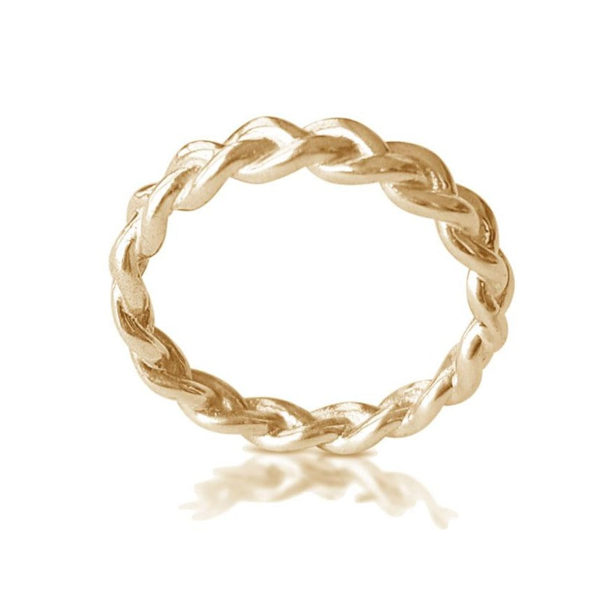 b4e89117e Yellow Gold Braided Ring, Dainty Braid ring, Matching Wedding Band, Twisted  Wedding Band