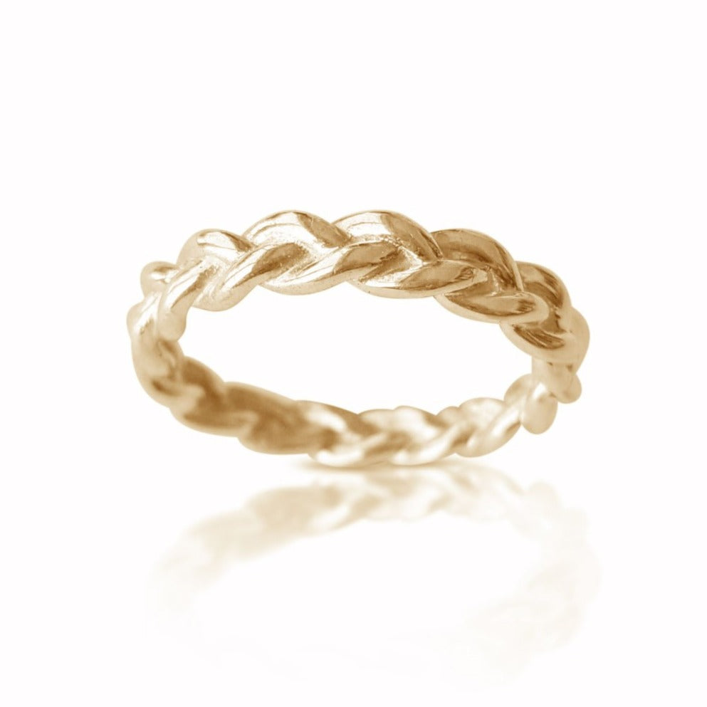 Yellow Gold Braided Ring, Dainty Braid ring, Matching Wedding Band, Twisted Wedding Band, Bridal Ring, Braided Wedding Band, Wedding Ring, braid