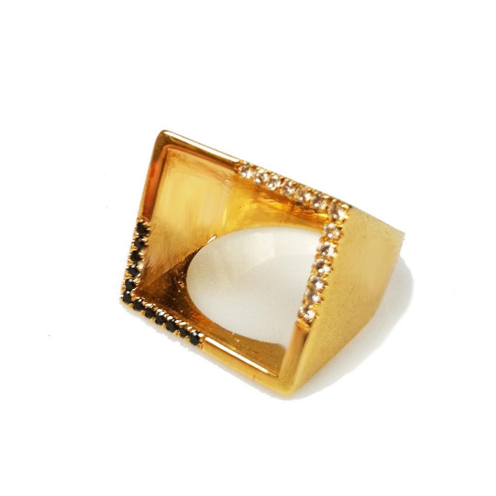 most wanted geometric ring for her, unusual engagement ring ,