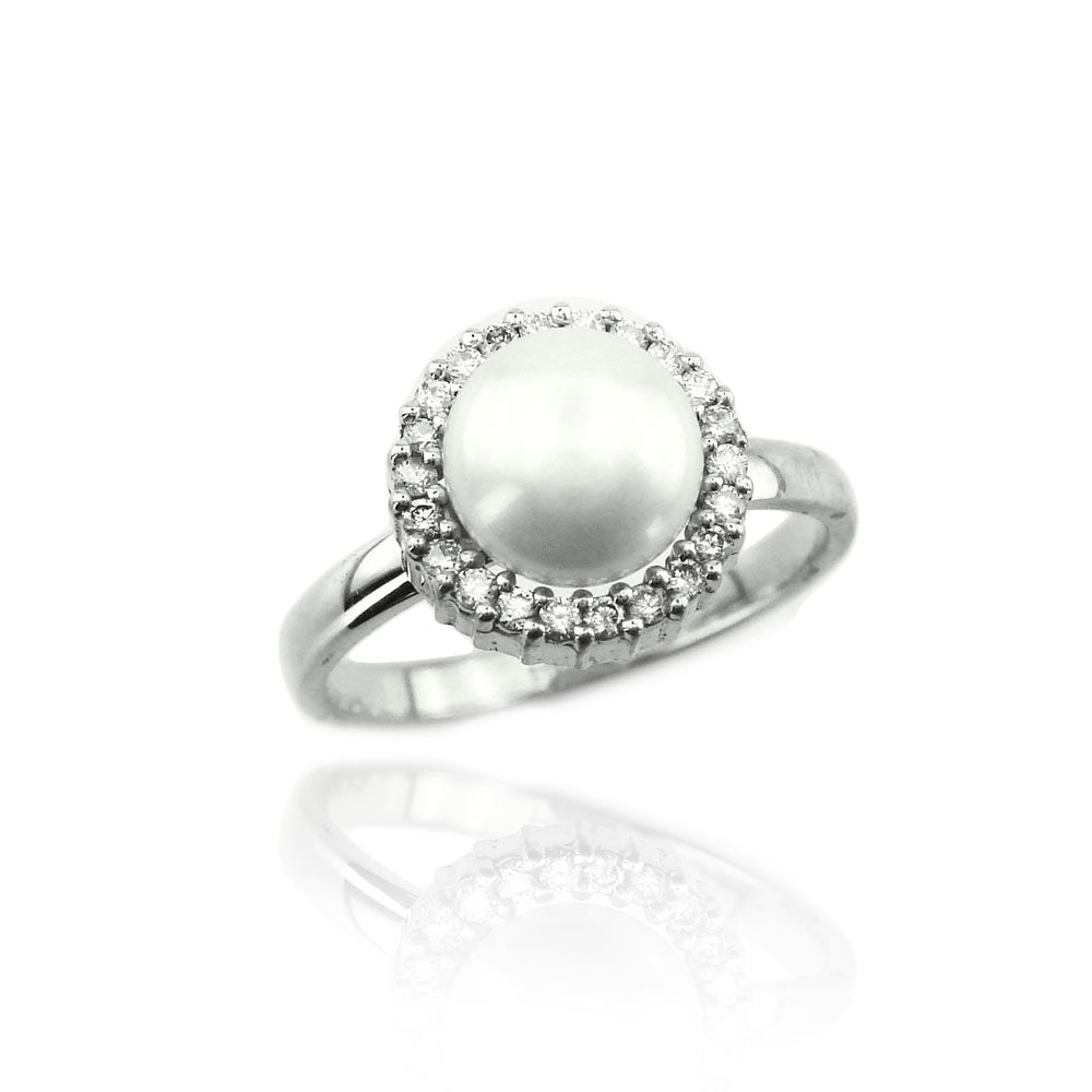 pearl diamond halo engagement ring, most desirable pearl and diamond ring, bridal jewelry, engagement ring, wedding band, weddings and engagement, pearl jewelry, pearl ring,