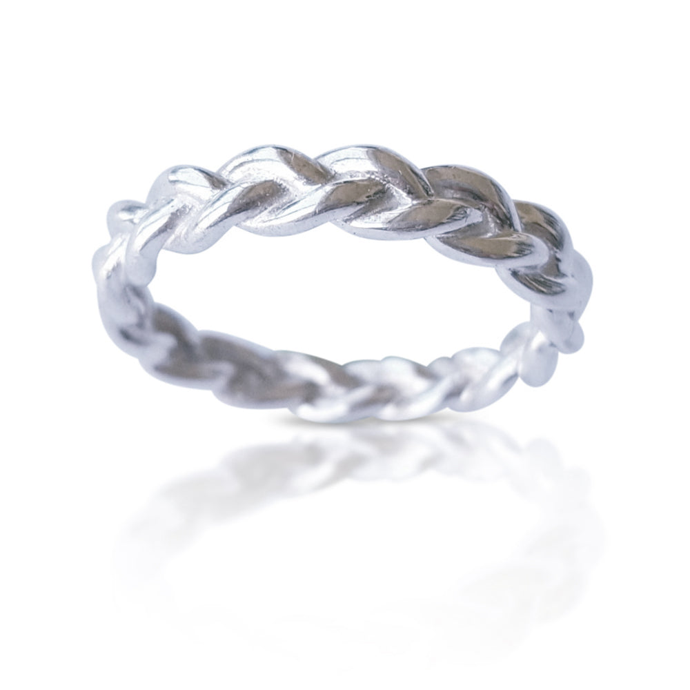 white Gold Braided Ring, Dainty Braid ring, Matching Wedding Band, Twisted Wedding Band, Braided Wedding Band, best selling ring, trending now