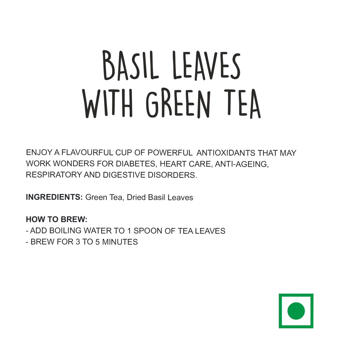 Basil Leaves with Green Tea