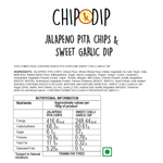 Jalapeno Pita Chips with Sweet Chilli Garlic Dip