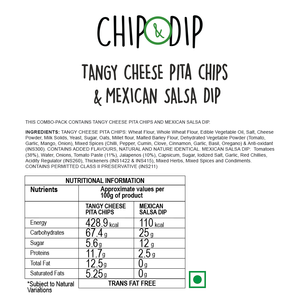 Tangy Cheese Pita Chips with Mexican Salsa Dip
