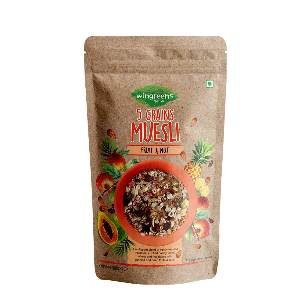 5-Grains Muesli - Fruit & Nut (400g)