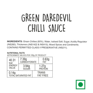 Green Daredevil Chilli Sauce