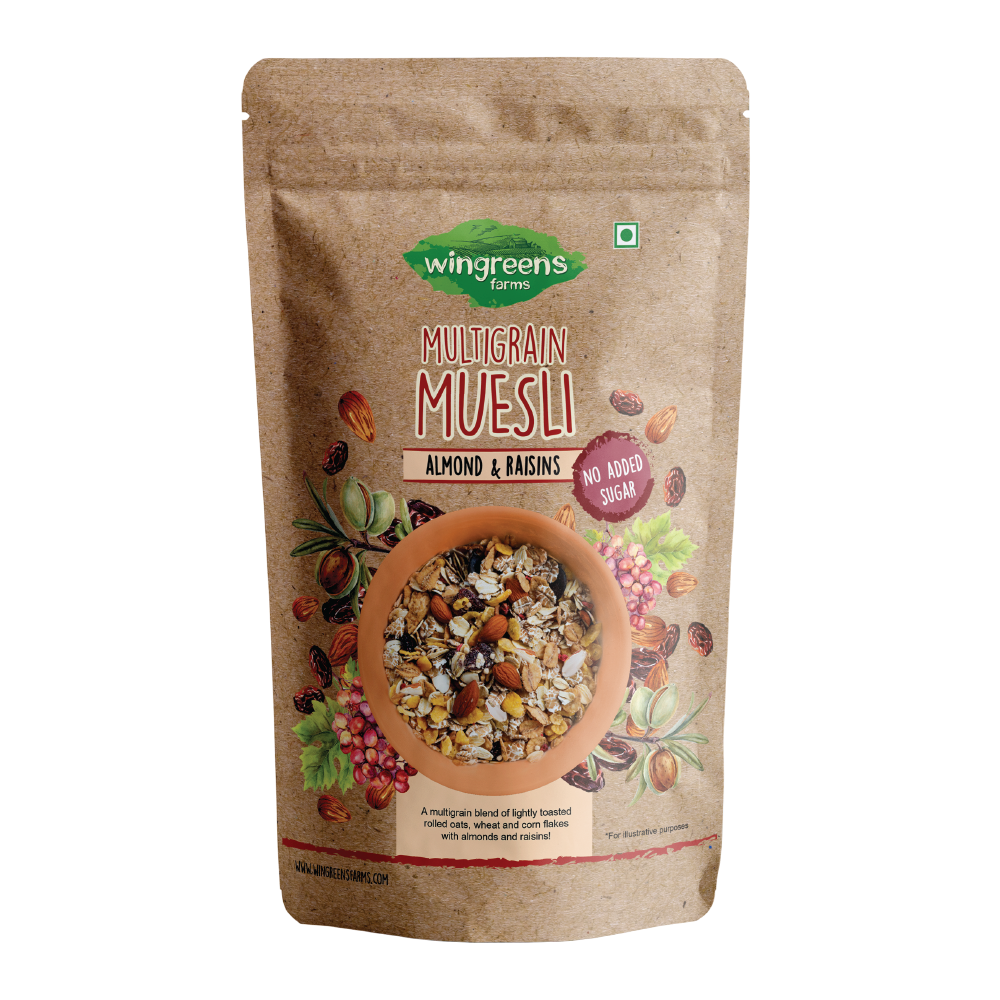 Multigrain Muesli - Almonds & Raisins (No Sugar Added) (400g)