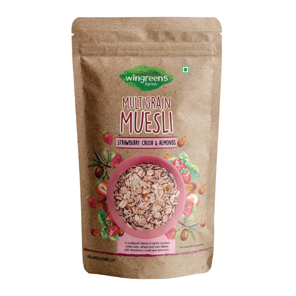 Multigrain Muesli - Strawberry Crush & Almonds (400g)