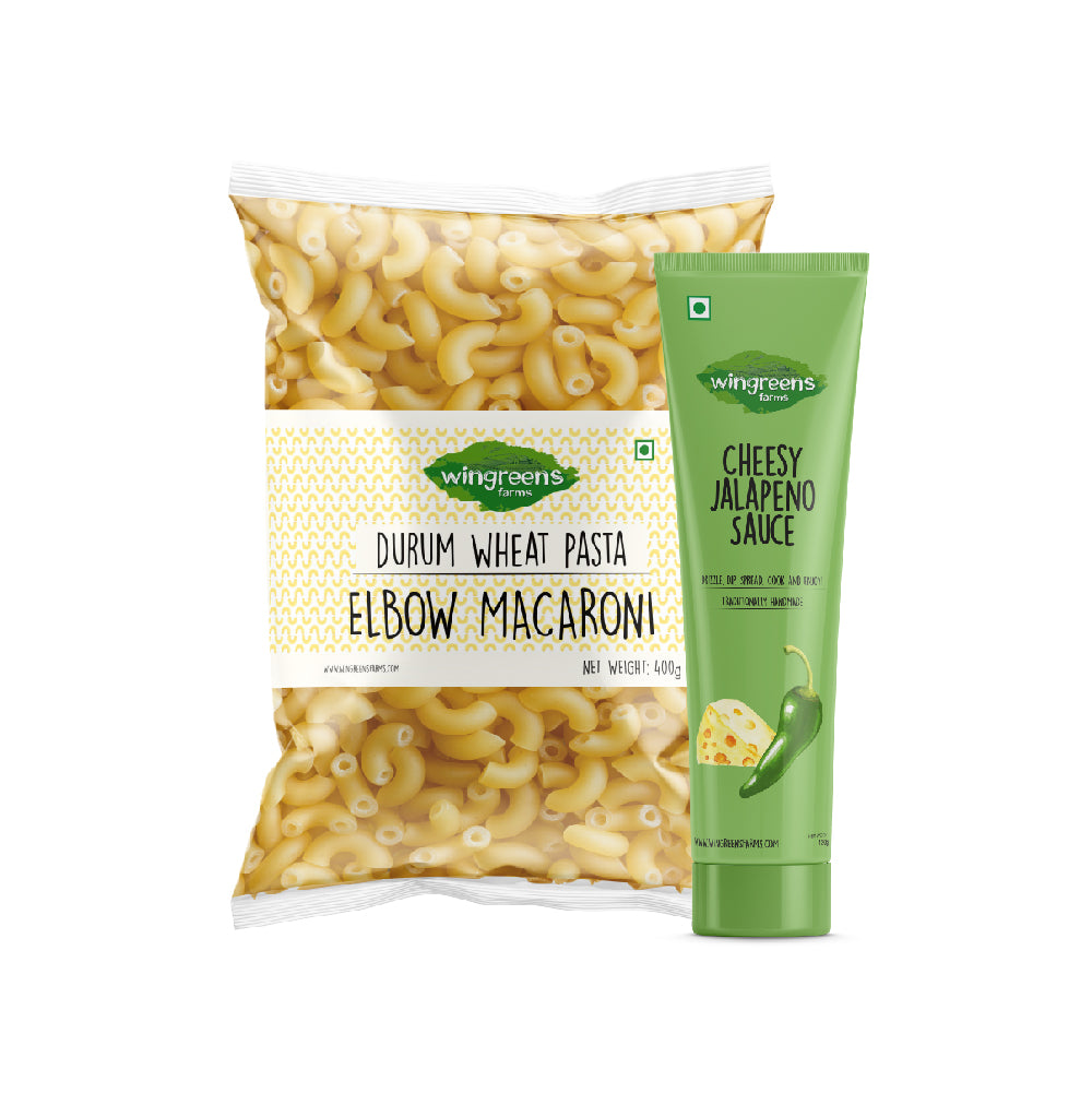 Durum Wheat Pasta - Elbow Macaroni (400g) with Cheesy Jalapeno Sauce (130g)
