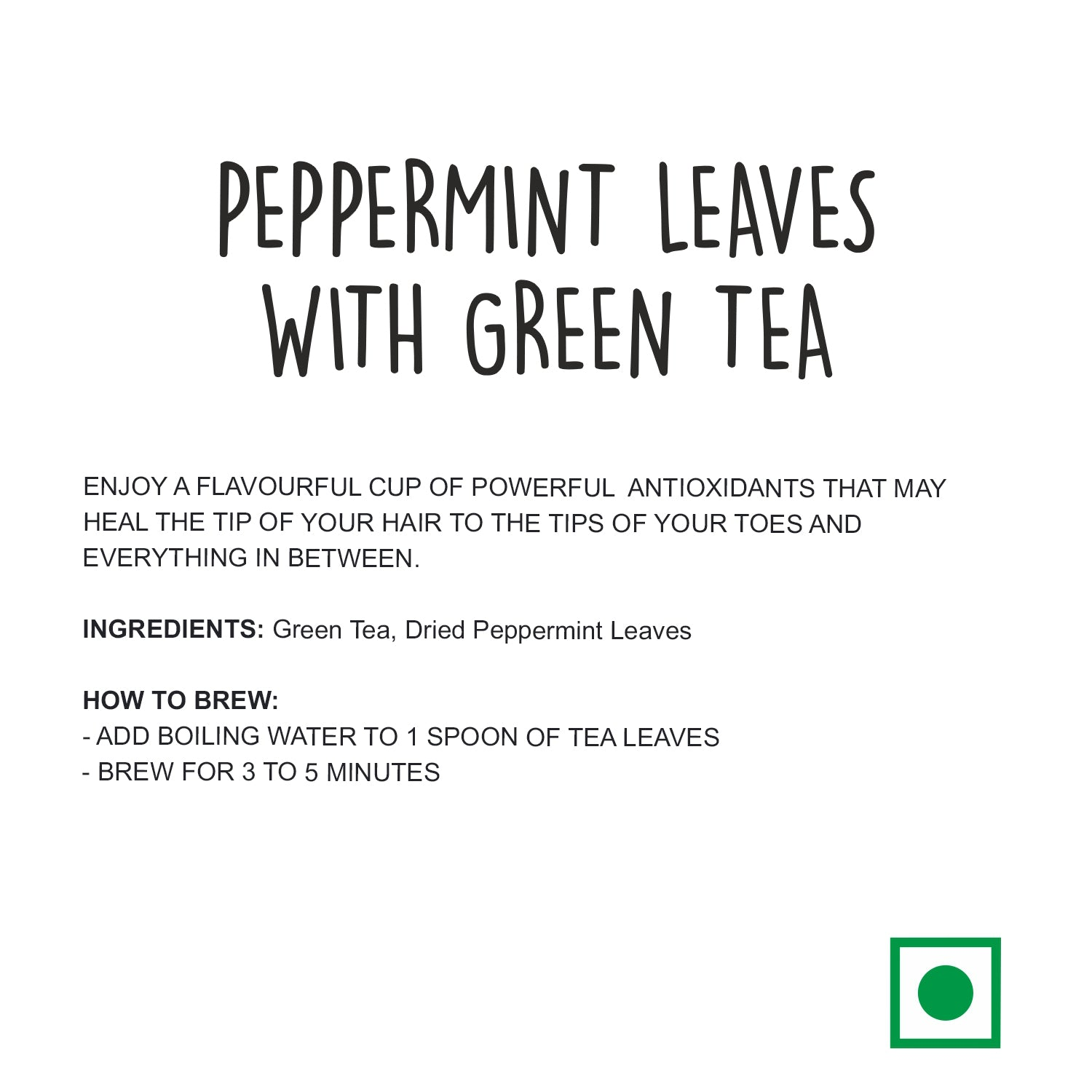 Peppermint Leaves with Green Tea