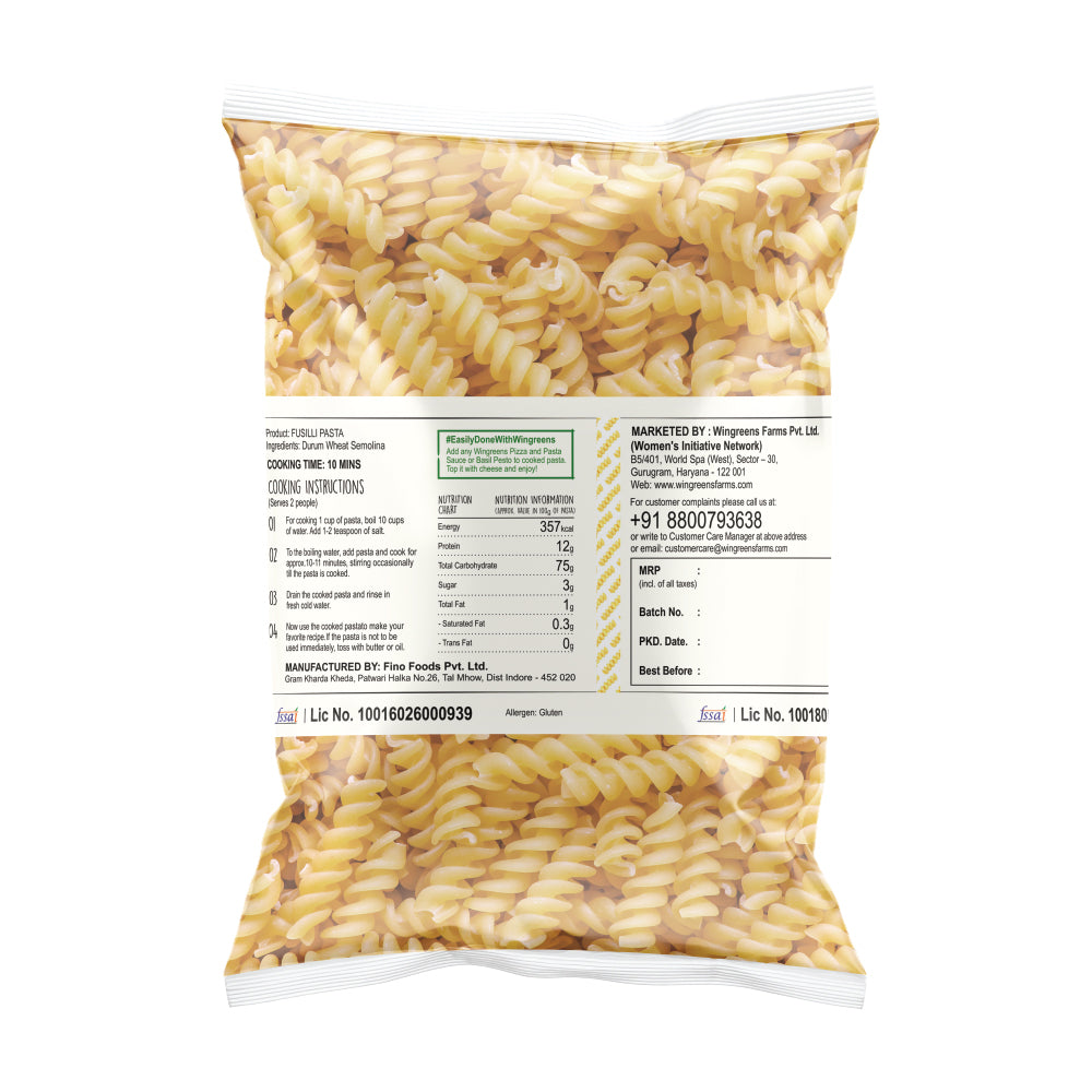 Durum Wheat Pasta - Fusilli (400g)