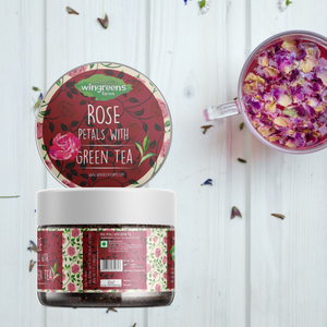 Rose Petals with Green Tea