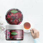 Hibiscus Flowers with Green Tea