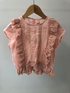 810502 Penelope Top - Peach 2/3/4/5/6 RRP $55