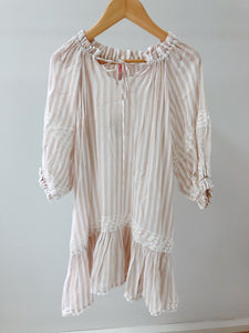 Joan Dress - Sandy Stripes
