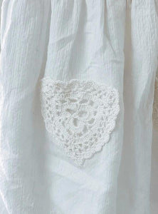 Millie Skirt - White Cheese cloth