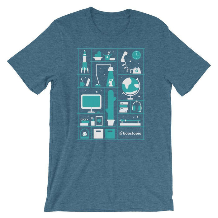 A Day in the Life T-Shirt Shirts Heather Deep Teal / S Boostopia