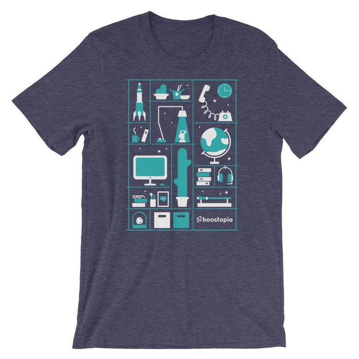 A Day in the Life T-Shirt Shirts Heather Midnight Navy / S Boostopia