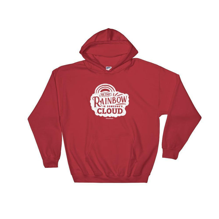 Be The Rainbow Hooded Sweatshirt Hoodie Red / S Boostopia