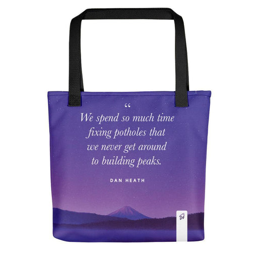 Build Peaks Not Potholes Tote bag Totes Default Title Boostopia