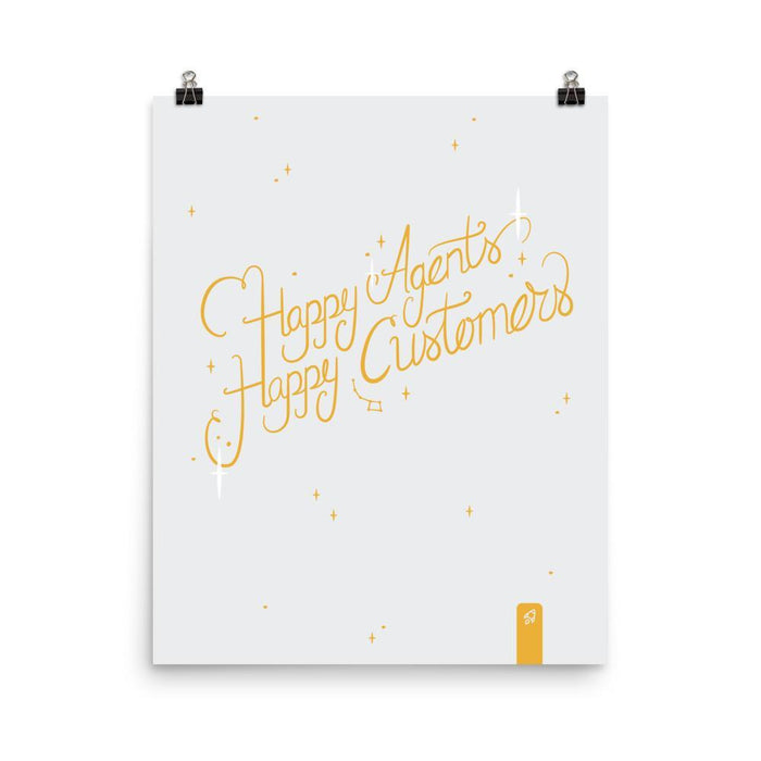 Happy Agents Happy Customers Poster Poster 16×20 Boostopia
