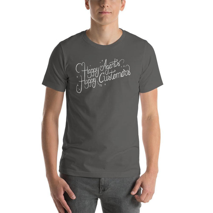Happy Agents Happy Customers T-Shirt Shirts Asphalt / S Boostopia