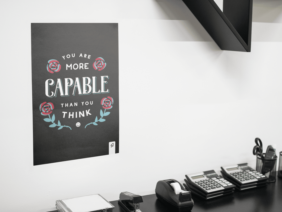 You Are Capable Poster Poster Boostopia