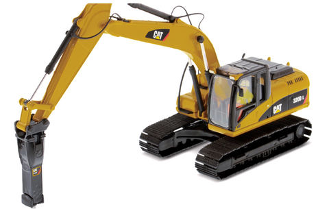 HYDRAULIC EXCAVATOR WITH HAMMER 320D L,  ESCALA 1:50