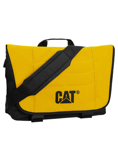 Maletín para laptop CAT en color amarillo con negro