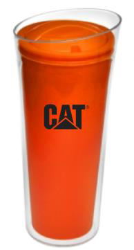 VASO TERMICO CAT NARANJA DOBLE PARED