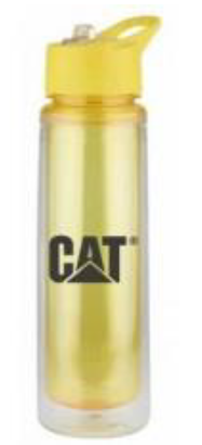 Termo color amarillo CAT, deportivo