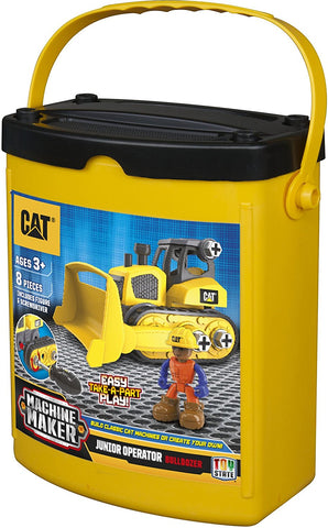 Juguetes armables CAT, Machine maker, Tractor / bulldozer, 8 piezas