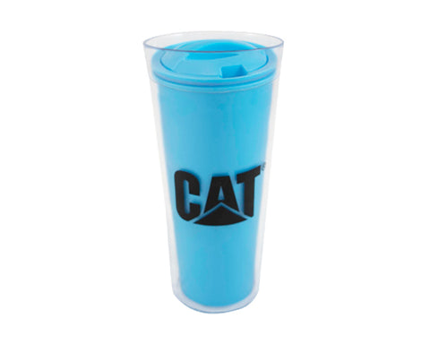 VASO TERMICO CAT AZUL DOBLE PARED