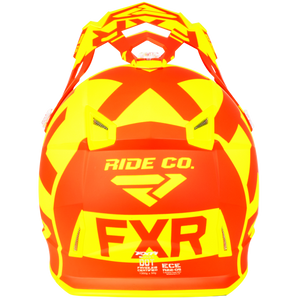 FXR - Boost Clutch barnahjálmur - Orange/Gulur