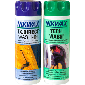 Nikwax - Tech Wash / TX.Direct þvotta og vatnsvörn - Duo Pack