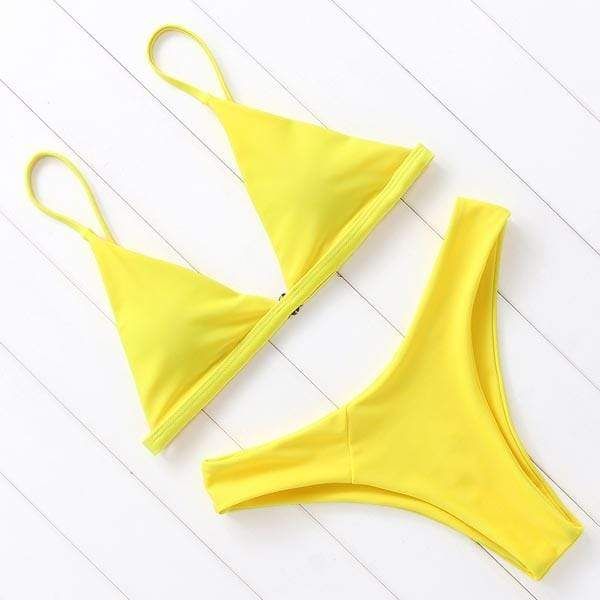 Sandie Cheeks Bikini Yellow / L Jada Set
