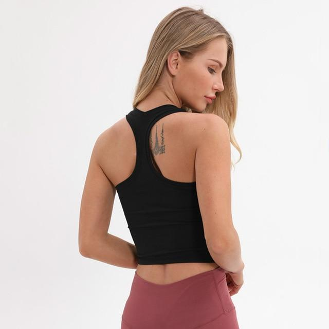 Sandie Cheeks Shirt Black / XS Sculpt Racerback Crop Tank