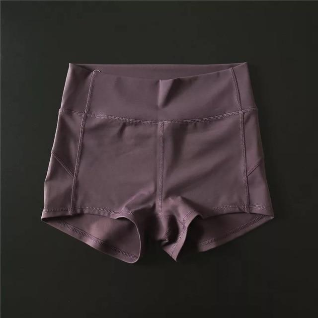 Sandie Cheeks shorts Dark Reddish Purple / S Flex High Waist Shorts