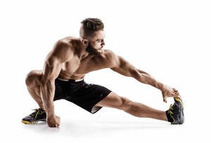 Muscular Man Stretching for Fitness Session