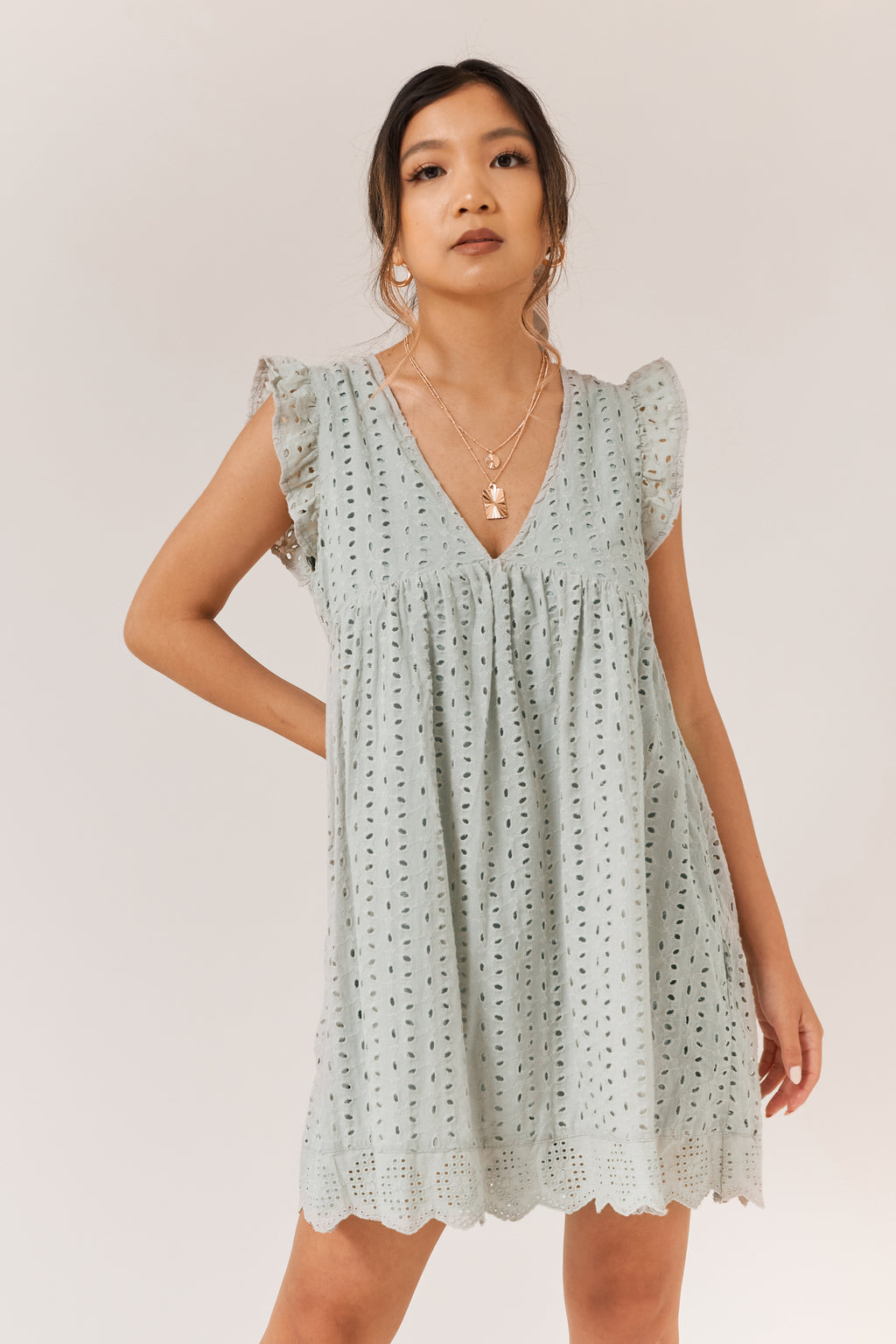 Tulip Romper Dress - Olive