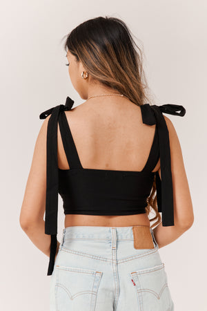 Sweetness Corset Top - Black