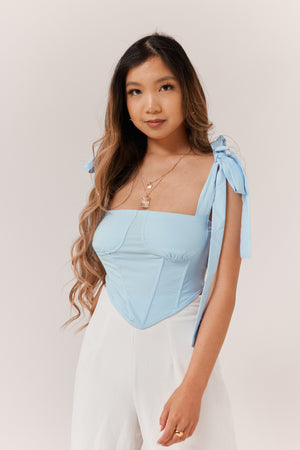 Sweetness Corset Top - Sky Blue