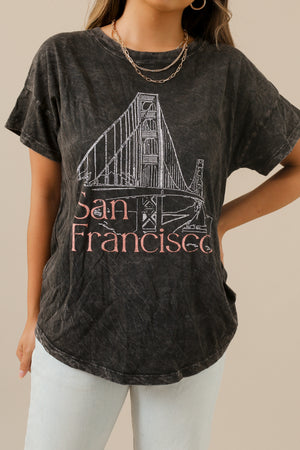 wild rina womens boutique trendy boho san francisco black vintage graphic tee