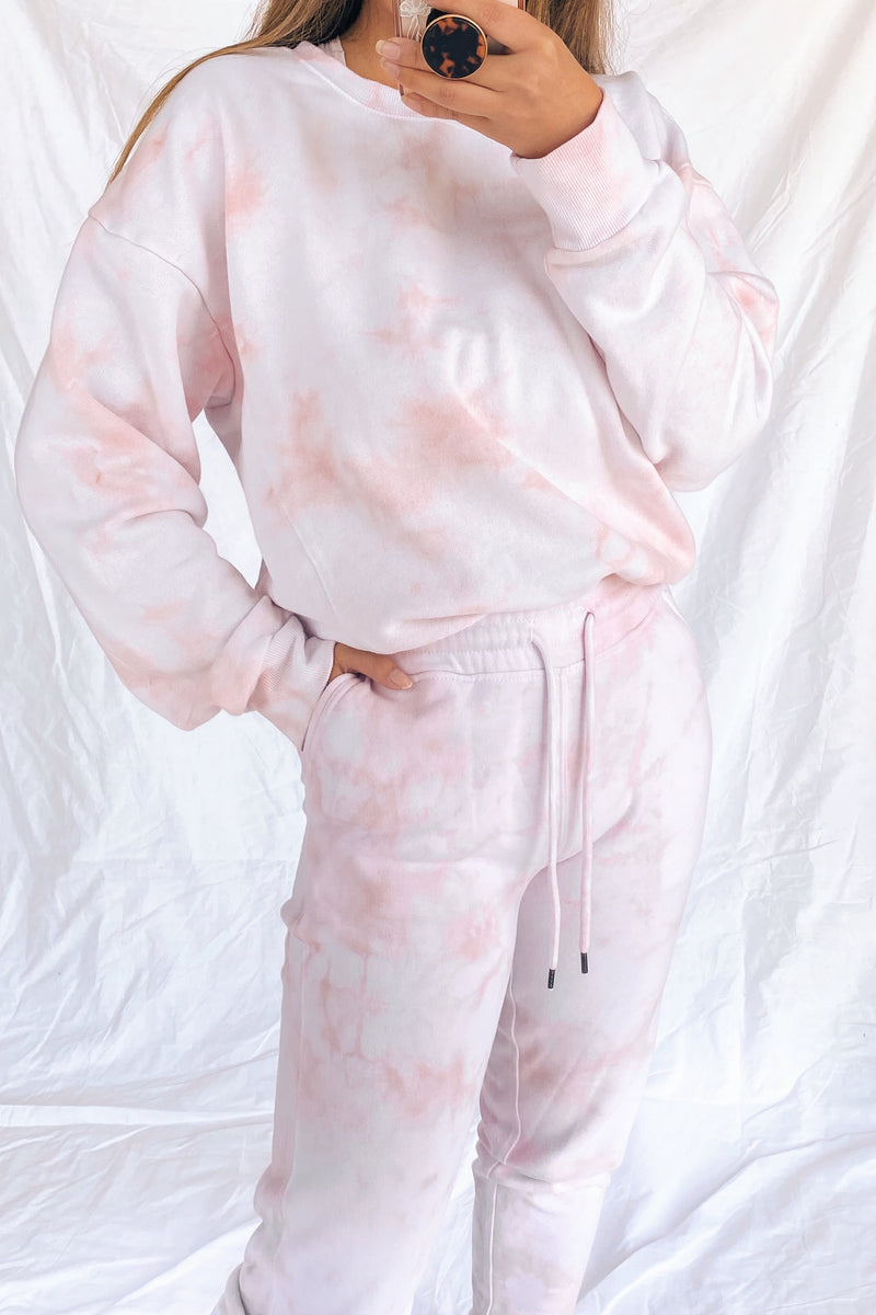 Blush Pink Tie Dye Sweats