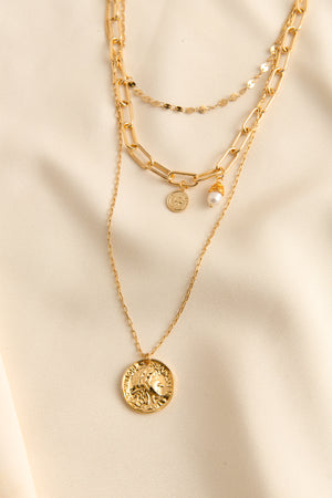 Coin and Pearl Necklace Set