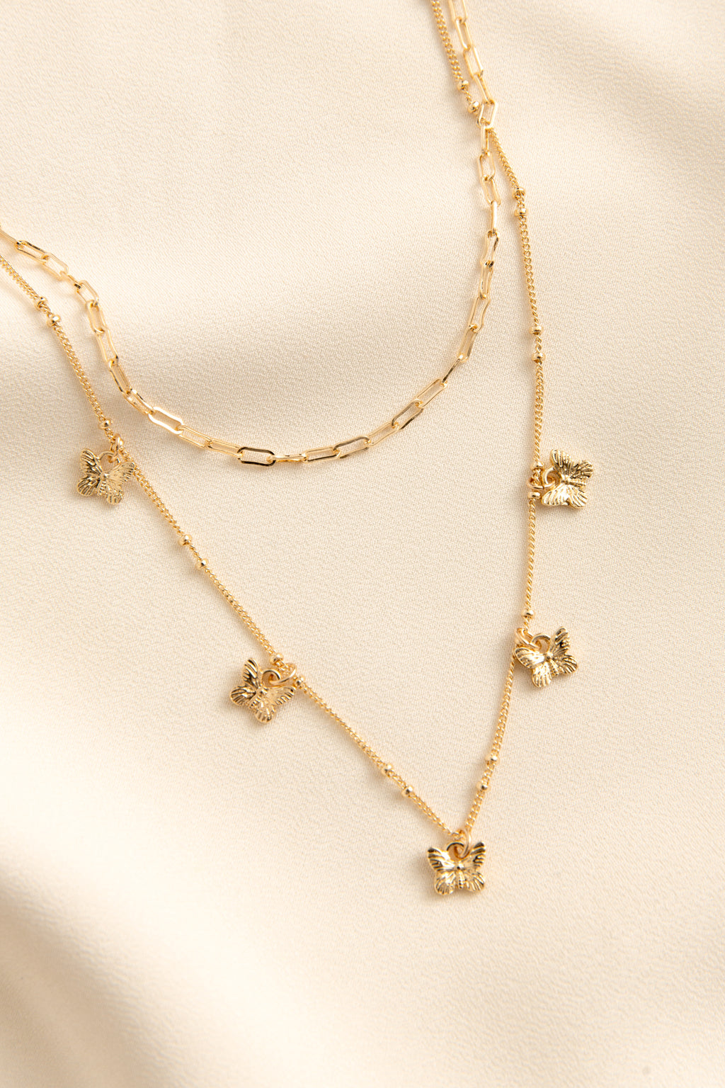 Dainty Butterfly Chain Set