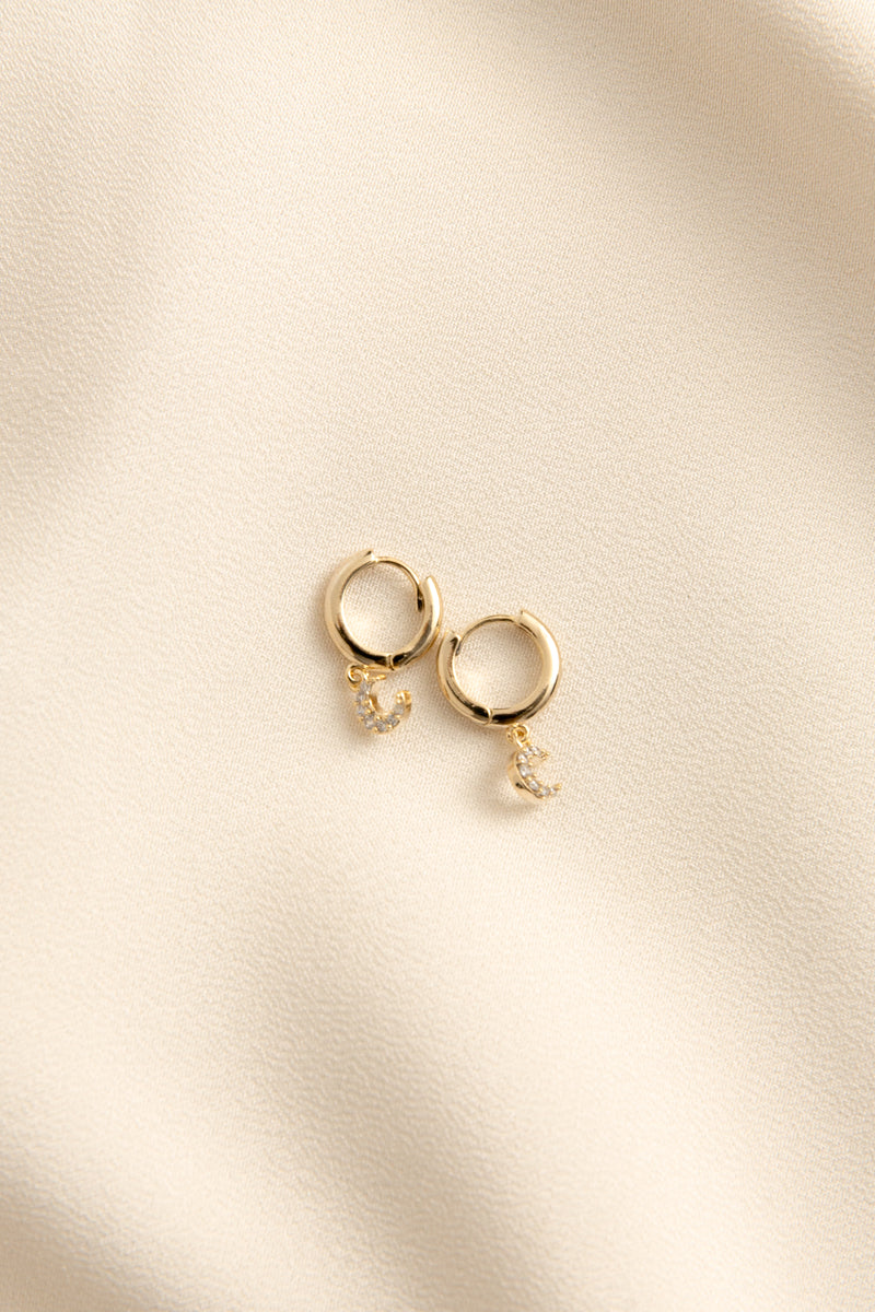 Crescent Dainty Hoops