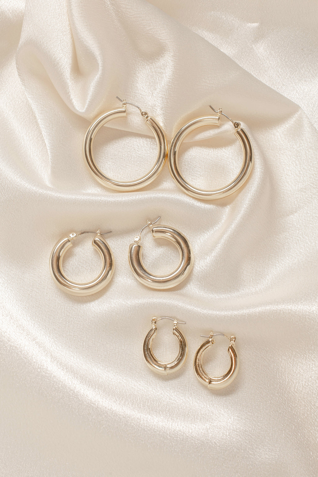 Chunky Gold Hoops Set