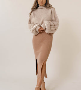 Cocoa Knit Skirt