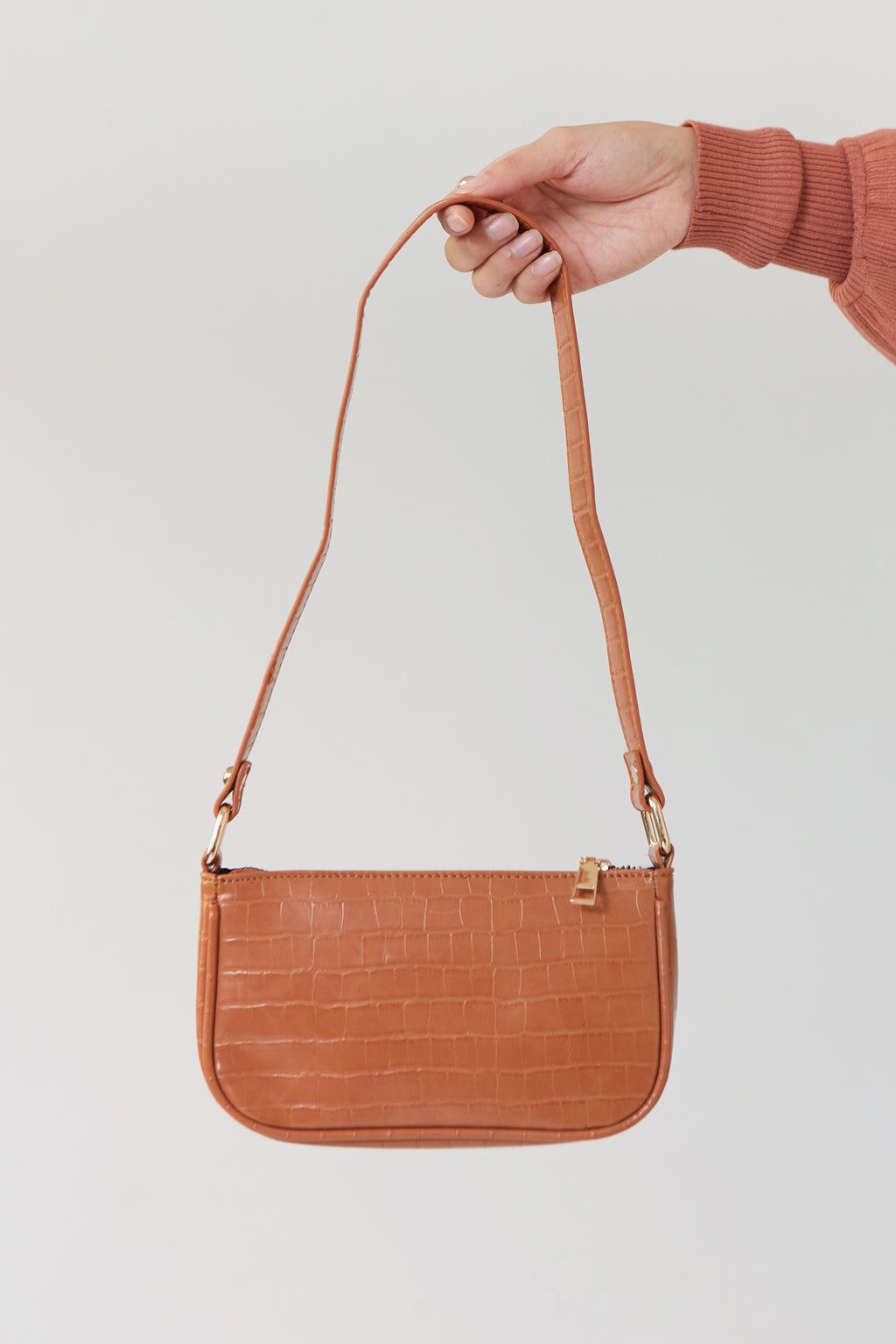 Brown Baguette Purse